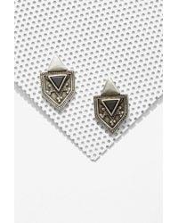 Nasty Gal Biko Mia Silver Earrings - Lyst