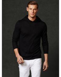 Ralph lauren purple label Cashmere Hooded Sweater in Black for Men ...