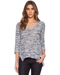 Michael Stars Three Quarter Sleeve V-Neck Pullover - Lyst