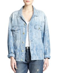 Made Gold Distressed Denim Jacket - Lyst