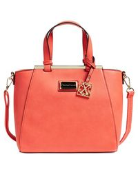 CXL by Christian Lacroix - 'limoges' Faux Leather Satchel - Lyst