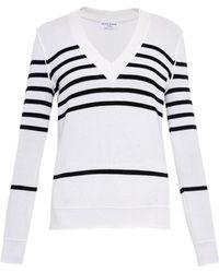 Sonia Rykiel Striped Wool, Silk And Cashmere Sweater - Lyst