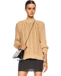 3.1 Phillip Lim Textured Cable Stitch Viscose-blend Sweater - Lyst