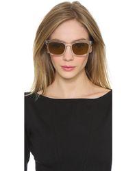 Wonderland - Mojave Sunglasses - Clear Gloss Black/Bronze - Lyst