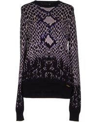 Just Cavalli Black Jumper - Lyst