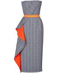 Roksanda Ilincic Silkwoolcotton Vida Dress with Contrast Belt - Lyst