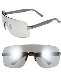 Gucci Shield Sunglasses - Ruthenium Grey/ Silver Mirror gray - Lyst