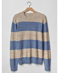 Gap Marled Stripe Crewneck Sweater - Lyst