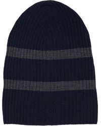 Barneys New York Stripe Knit Hat - Lyst