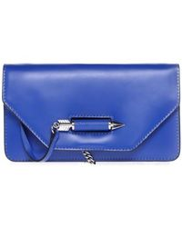 Mackage Zoey-S5 Cobalt Leather Mini Crossbody Bag - Lyst