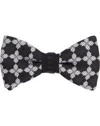 Duchamp Medallion Silk Jacquard Bow Tie - Lyst