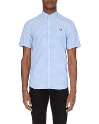 Fred Perry Dot Print Slim-Fit Shirt - For Men - Lyst