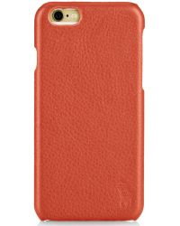 Polo Ralph Lauren Pebbled Leather Iphone Case - Lyst