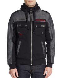 Affliction Rejoice Denim-trimmed Hooded Jacket - Lyst