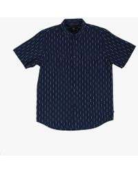Obey Norris Woven Shirt blue - Lyst