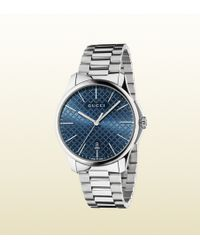 Gucci G-timeless Slim Collection Stainless Steel Watch - Lyst
