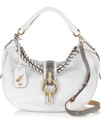 Diane Von Furstenberg Sutra Laced Leather Hobo Bag - Lyst