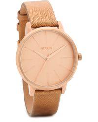 Nixon Kensington Leather Watch - Rose Gold Shimmer - Lyst