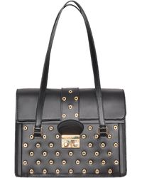 RED Valentino Leather Bag With Rivets - Lyst