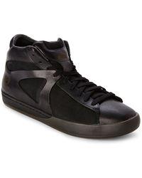 Alexander McQueen x Puma Black Climb Mid-Top Sneakers black - Lyst
