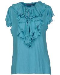 Ralph Lauren Blue Tshirt - Lyst
