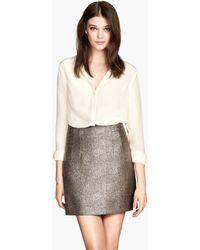 H&M Metallic Skirt - Lyst