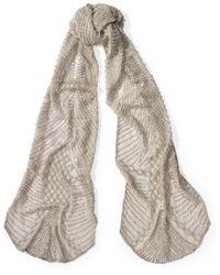 Ralph Lauren Art Deco Crinkled Silk Scarf - Lyst
