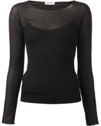 Nina Ricci Mesh Shirt - Lyst