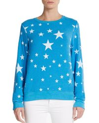 Wildfox Disco Stars Graphic Top - Lyst