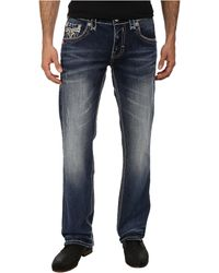 Rock Revival Stanley J7 Detailed Trim Straight Jean - Lyst