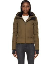 Canada Goose Military Green Branta Collection Aberdeen Bomber Jacket - Lyst