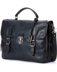 Frye - Logan Buckled Briefcase - Lyst