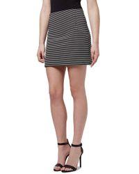 Topshop | Stripe High Rise A-line Miniskirt | Lyst