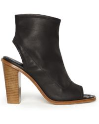 Whistles Peep Toe Shoe Boot - Lyst