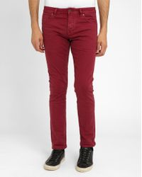 Scotch And Soda Burgundy-coloured Raston Jeans red - Lyst