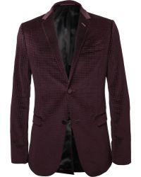Gucci Embossed Velvet Blazer - Lyst