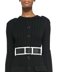 Derek Lam - Wide Leather Belt with Contrast Trim - Lyst