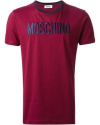 Moschino Red Logo T-shirt - Lyst