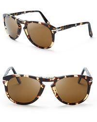 2460a8ce49 Persol - Vintage Celebration Folding Keyhole Aviator Sunglasses -  Bloomingdale S Exclusive - Lyst