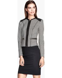 H&M Gray Tailored Jacket - Lyst