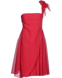 Giorgio Armani Short Dress purple - Lyst