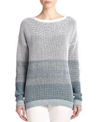Vince Ombre Cotton Knit Sweater - Lyst