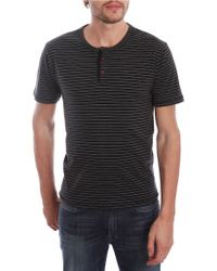 Lucky Brand Striped Henley Tee - Lyst