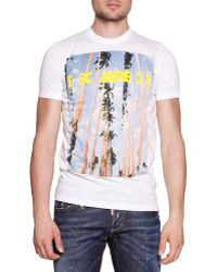 DSquared² Palm Tree-Graphic Logo Tee - Lyst