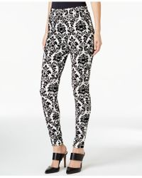 Cece by Cynthia Steffe - Printed Pull-on Slim-leg Trousers - Lyst