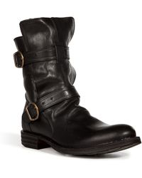 Fiorentini + Baker Leather Buckled Boots - Lyst