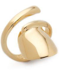Bijules | Short Nail Ring - Gold | Lyst