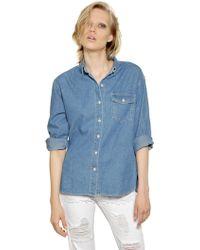 Steve J & Yoni P Washed Cotton Denim Shirt blue - Lyst