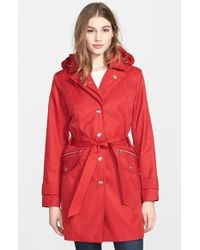 London Fog Double Collar Trench Coat  - Lyst