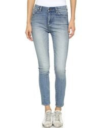 Blank - High Rise Ankle Skinny Jeans - Lyst